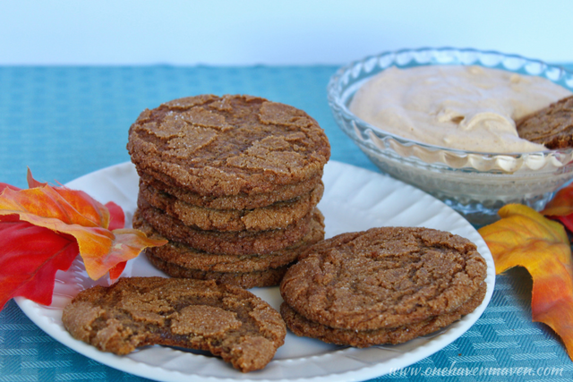 Amazing melt in your mouth gingersnaps with pumpkin dip. Come on over and get the recipe.