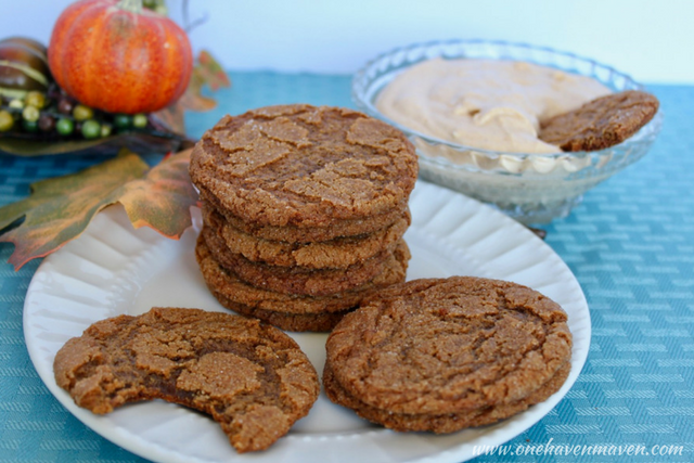 Perfect Fall Gingersnaps. Guaranteed to be a hit! Come on over to check it out.