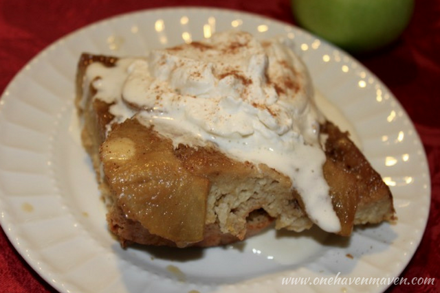 Christmas Breakfast Series-Day One: Caramel-Apple French Toast with Vanilla-Whipped Cream. This post is part of a 5 day series.